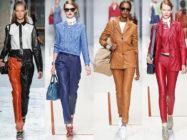 С чем носить кожаные брюки? Одеваемся стильно!