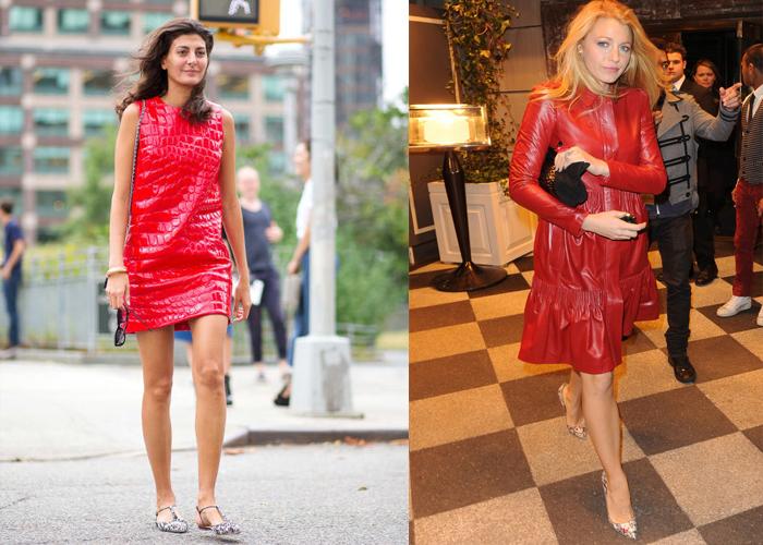 красное кожаное платье, фото