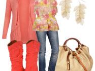 Яркий штрих! С чем носить красные сапоги?