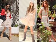 Неброская роскошь… С чем носить бежевое платье?