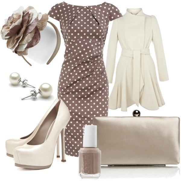 коричневое платье футляр, фото