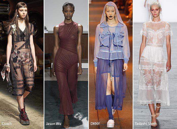 модные тенденции весна - лето 2017: прозрачные ткани, фото