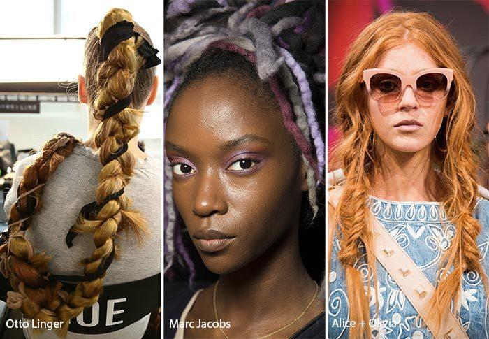 модные тенденции весна - лето 2017: косы и дреды, фото