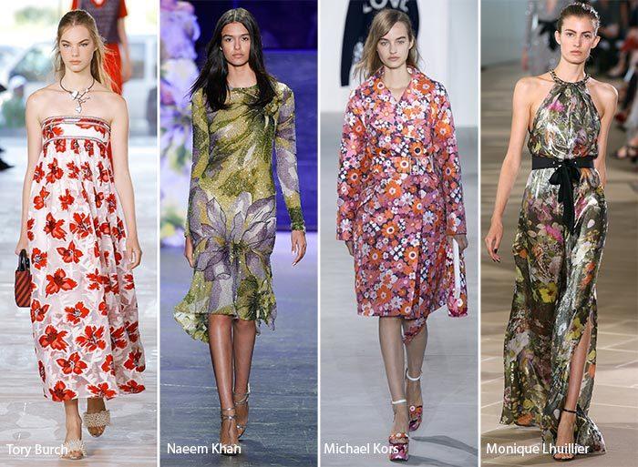 модные тенденции весна - лето 2017: ыветочные принты, фото