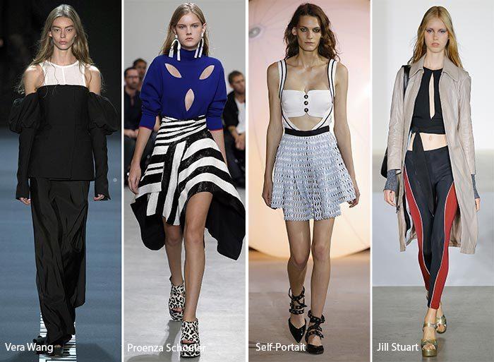 модные тенденции весна - лето 2017: разрезы и вырезы, фото