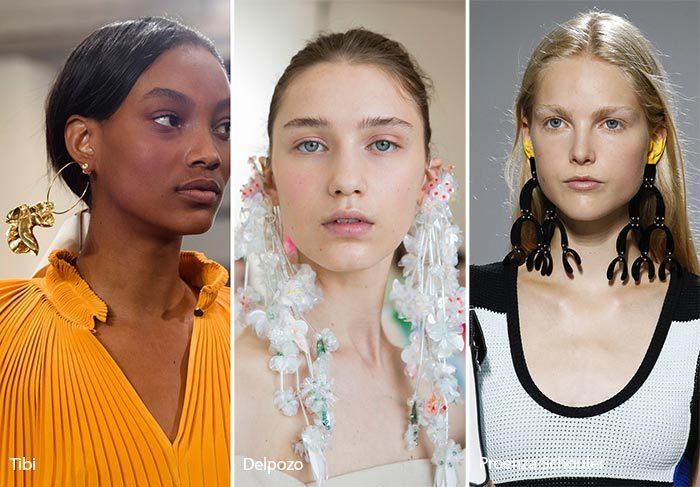 модные тенденции весна - лето 2017: большие серьги, фото