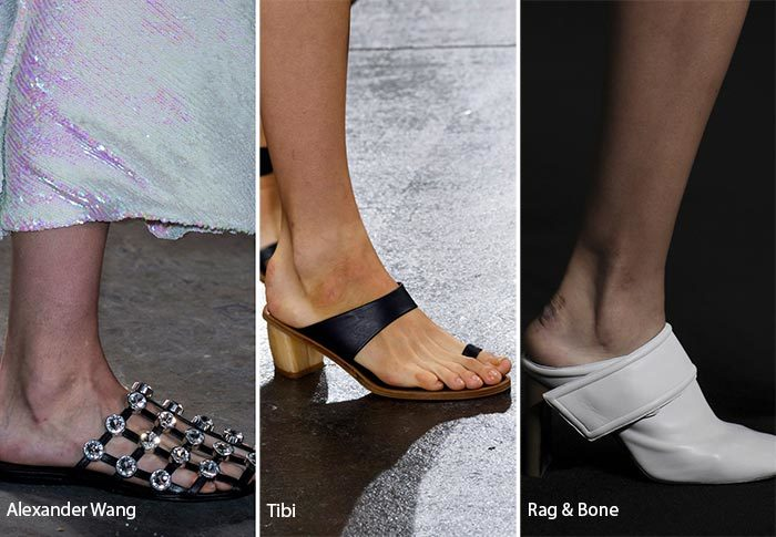 модные тенденции весна - лето 2017: обувь без задника, фото