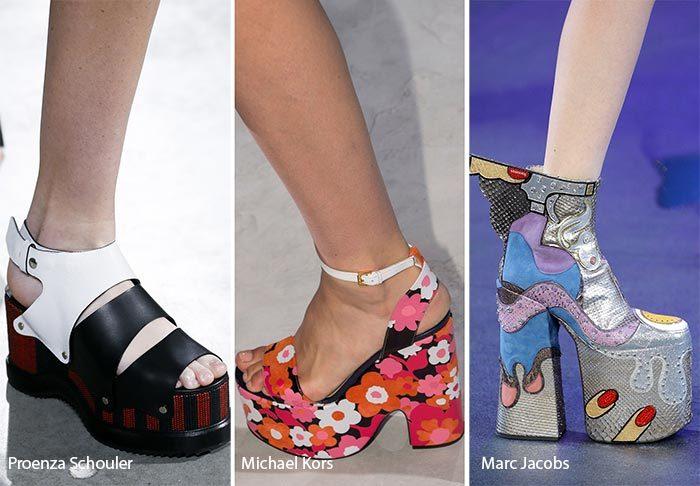 модные тенденции весна - лето 2017: обувь на платформе, фото