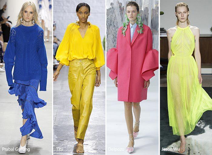 модные тенденции весна - лето 2017: яркие цвета, фото