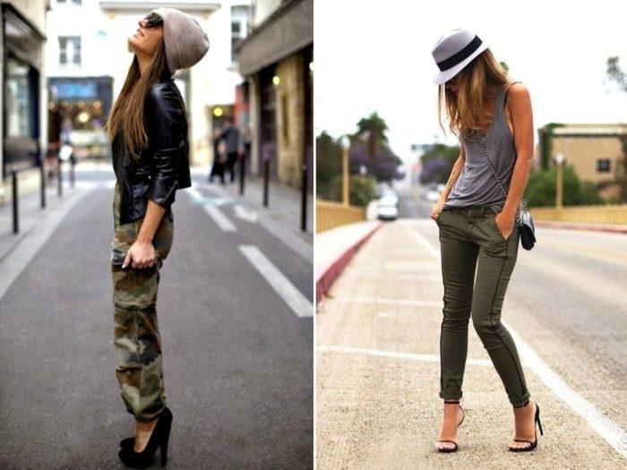 брюки и джинсы карго, фото
