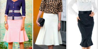 Самая элегантная вещь вашего гардероба. С чем носить юбку годе?