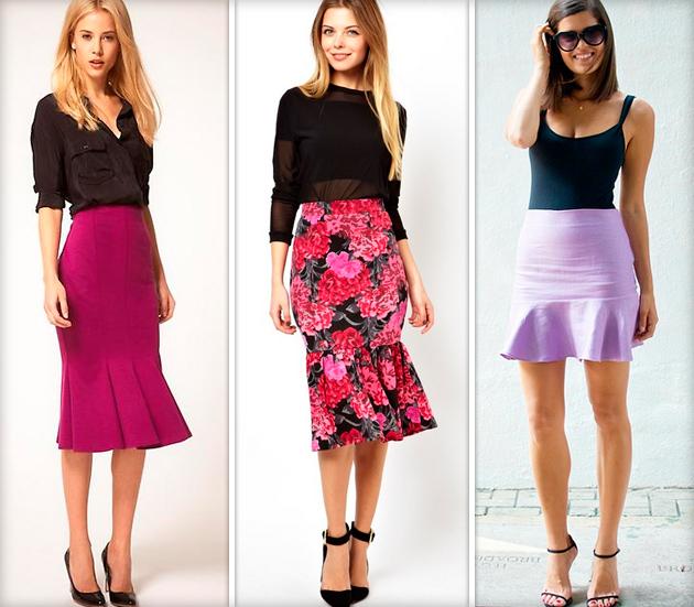 С чем носить юбку годе миди