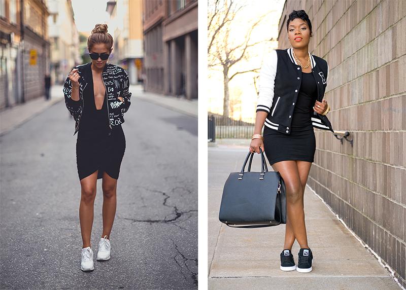 Платье и спортивная куртка