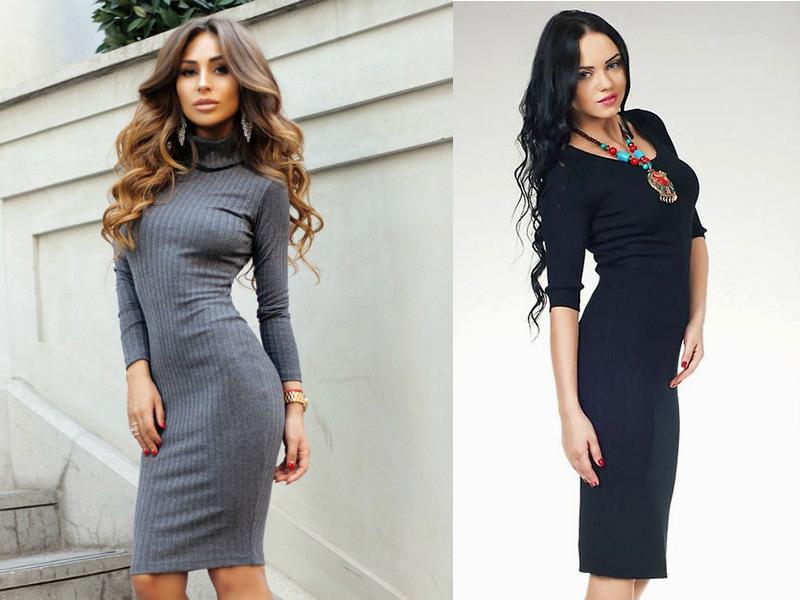 Платье в обтяжку ниже колена с чем носить 167