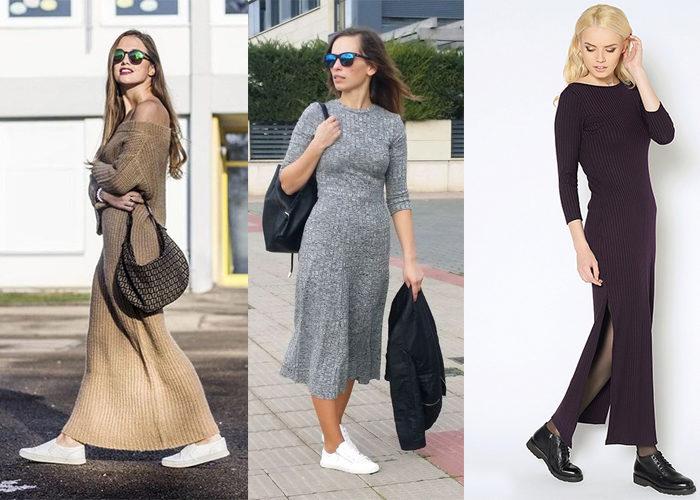 с чем носить длинное платье - лапшу, фото