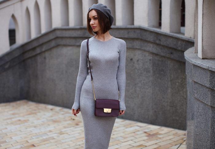 модные образы с платьем лапша, фото