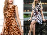 Лео-стиль: модная хищница. Платья с леопардовым принтом