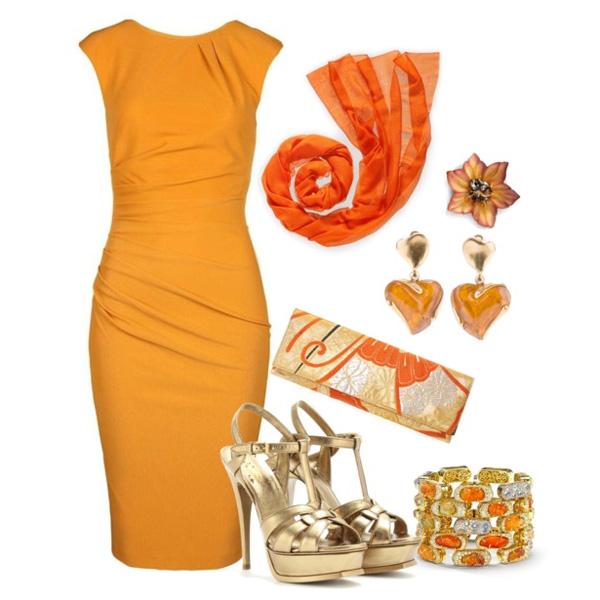 желтое платье футляр, фото