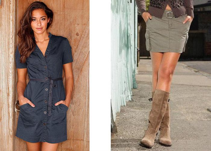 платье и юбка карго, фото