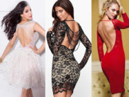 Искусство соблазнения: платья короткие с открытой спиной