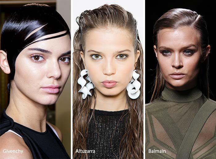эффект мокрых волос 2017, фото