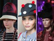 Модные головные уборы весна — лето 2017 — шляпки, козырьки и вуалетки