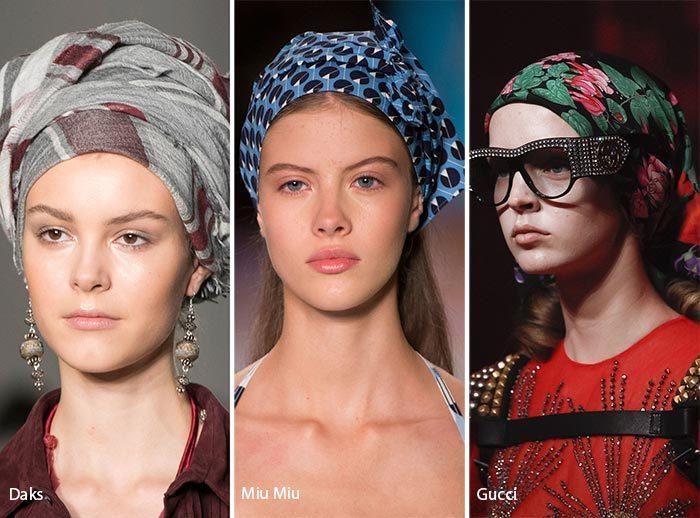 модные шарфы и повязки 2017, фото