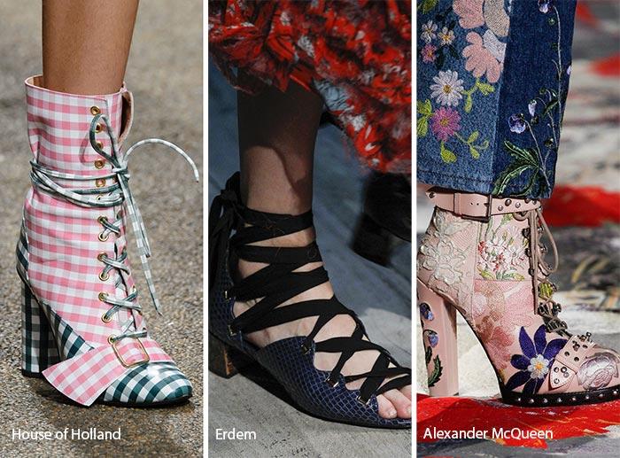 модная обувь на шнуровке 2017, фото