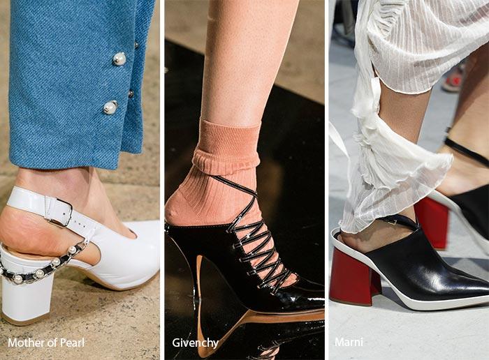 модная обувь с открытой пяткой 2017, фото