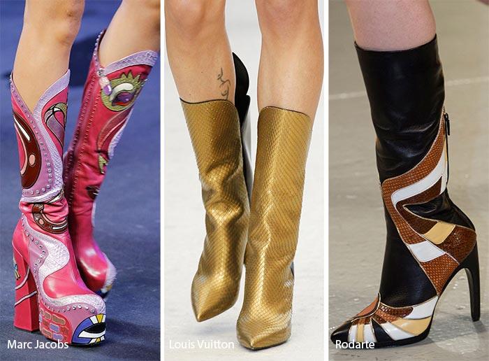 модные сапоги из змеиной кожи 2017, фото