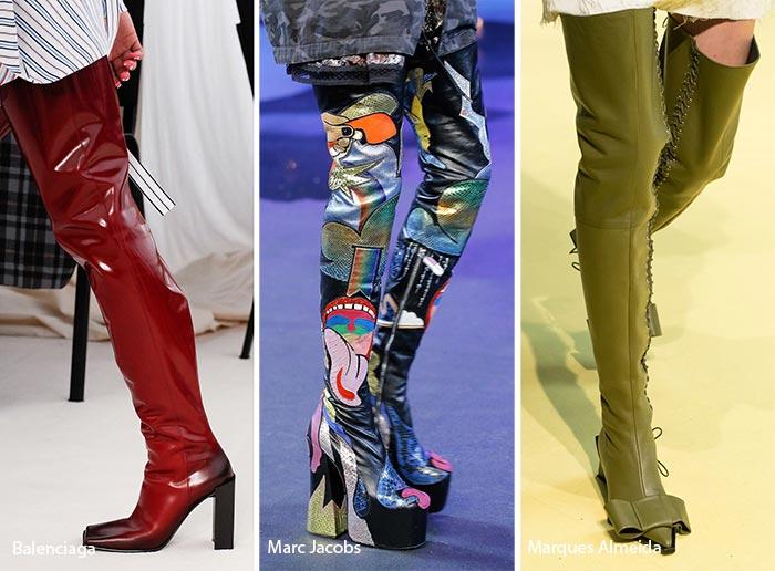 модные ботфорты 2017, фото