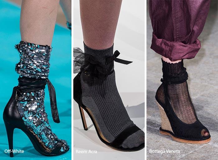 сандалии с носками 2017, фото