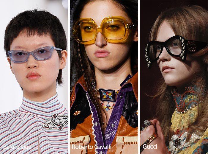 модные очки 2017 с пластиковой оправой, фото