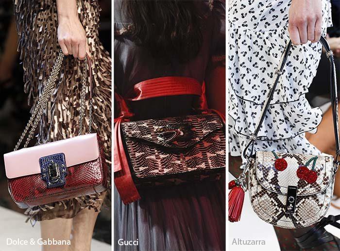 модные сумки 2017 из змеиной кожи, фото