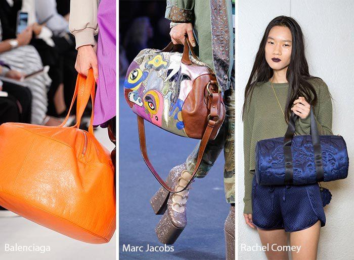 модные объемные спортивные сумки 2017, фото
