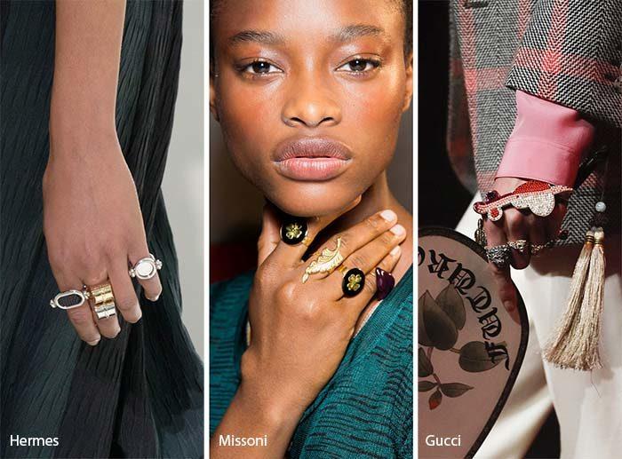 модные кольца 2017, фото