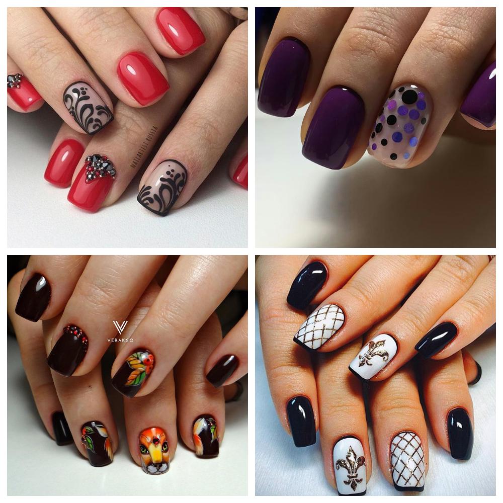 дизайн ногтей с полосками и стразами - Тюменский ...