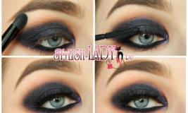 3 идеи новогоднего макияжа для голубых и серых глаз