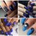 Вариации черно — синего маникюра гель — лаком и шеллаком