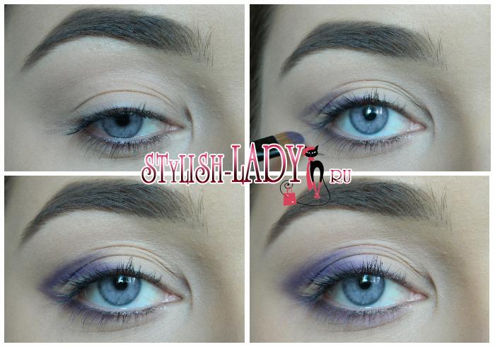 макияж в фиолетовых тонах