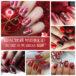 Красивый красный зимний маникюр — более 50 идей с фото