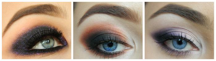новогодний макияж для голубых и серых глаз
