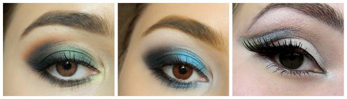 новогодний макияж для карих глаз фото