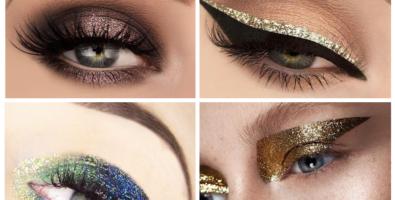 Идеи новогоднего макияжа с блестками — ярко, модно, стильно!