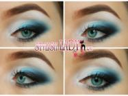Яркий праздничный макияж глаз — 3 варианта для блондинок и брюнеток