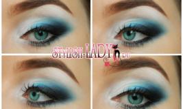 Яркий макияж глаз — 3 варианта для блондинок и брюнеток