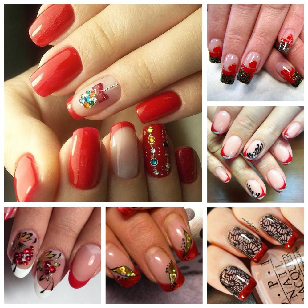 Красивые ногти красного цвета фото