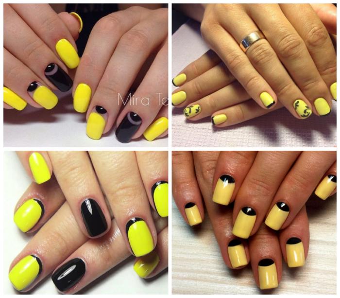 черно - желтый френч