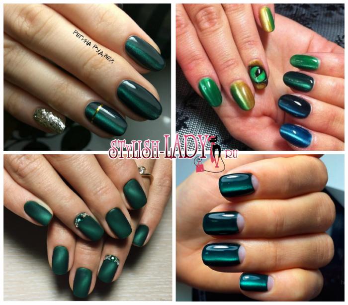 Зеленый с дизайном