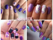 Дерзкий фиолетовый маникюр — идеи дизайна ногтей
